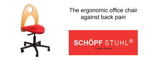 The ergonomic office chair against back pain