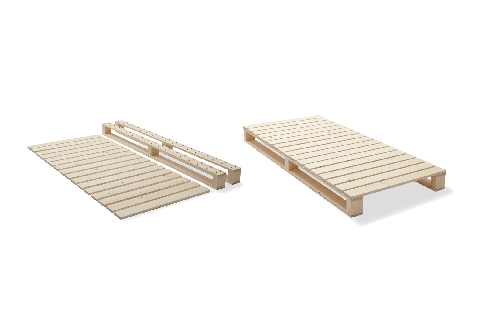 Wooden minute bed, made in Switzerland