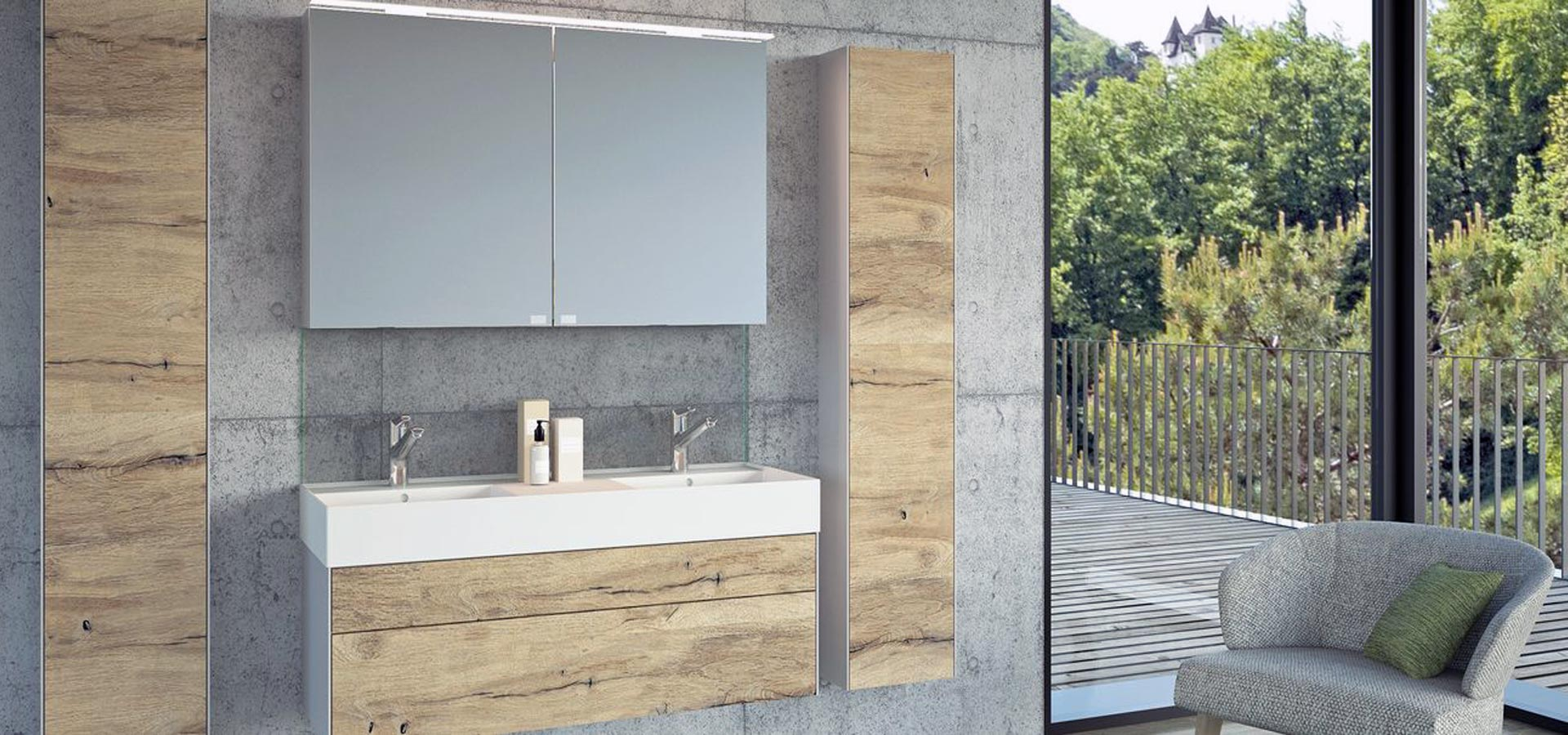 Swiss furniture for bathroom and cupboards by Framo, Swiss Made