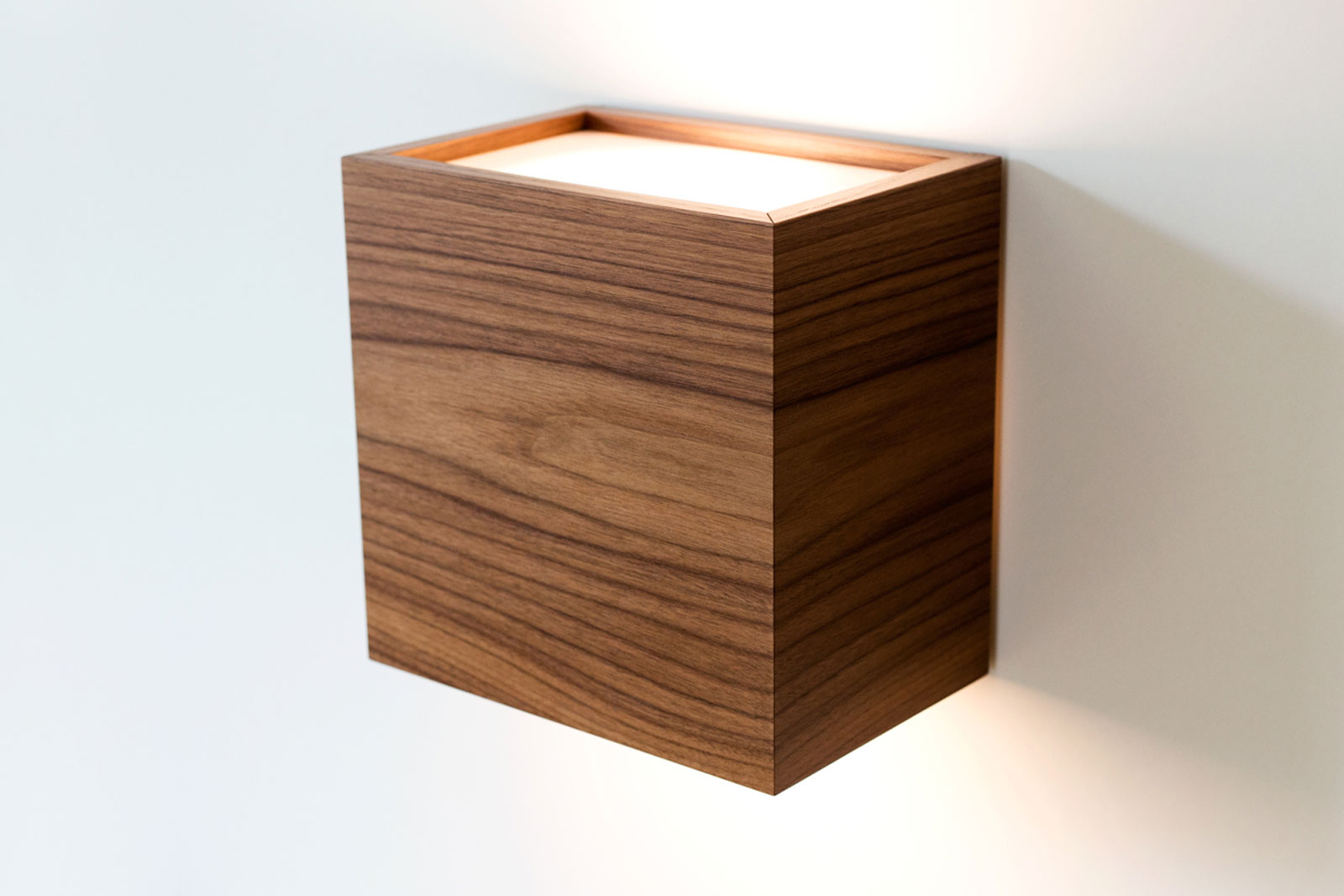 Wall lamps made of real wood veneer by Holzled