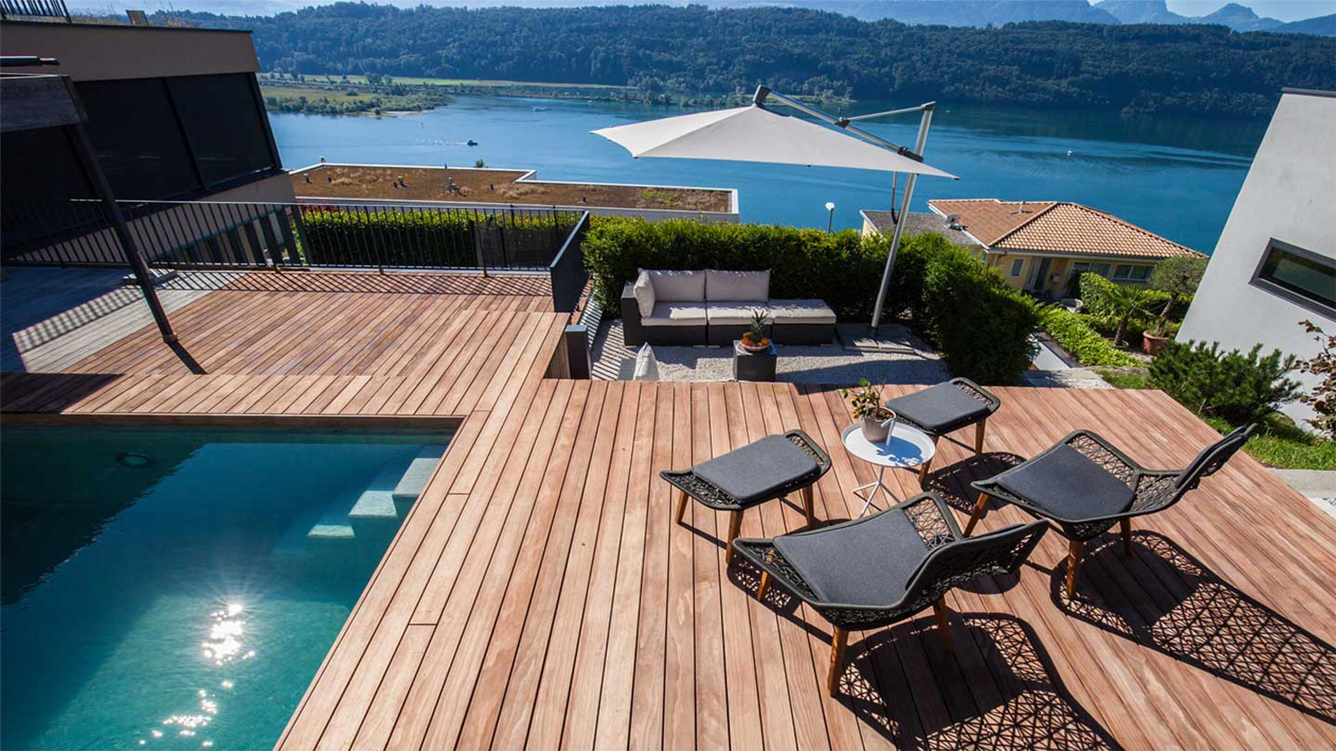 Terrace design and sun protection by Zweifel Terrazza AG
