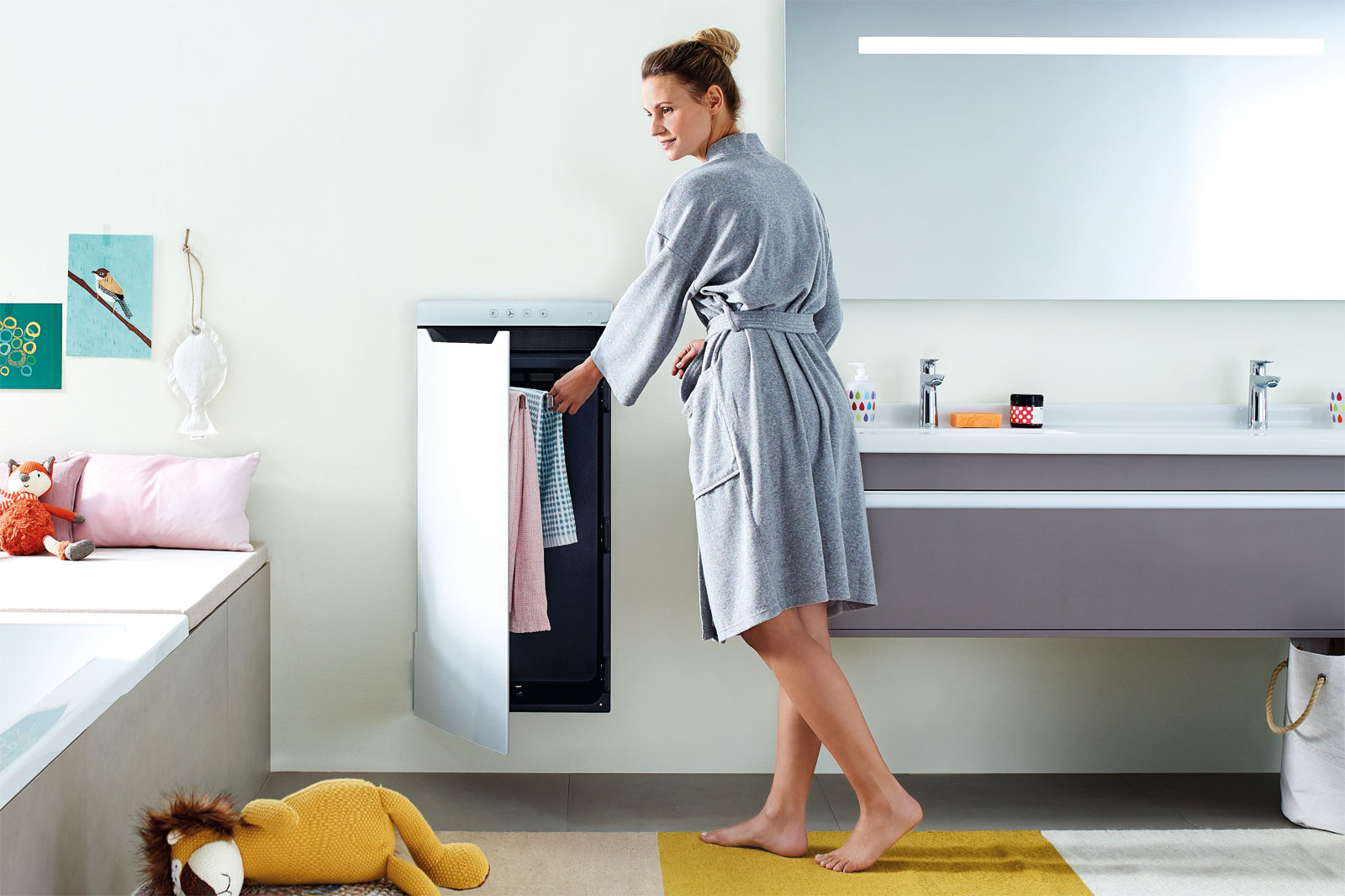 Zehnder design radiator Zenia for towels